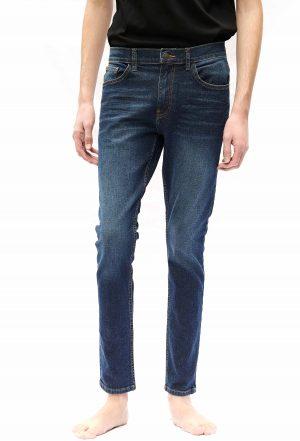 000056 Jeans Azul Claro Entubados Tiro Medio Piso Uno